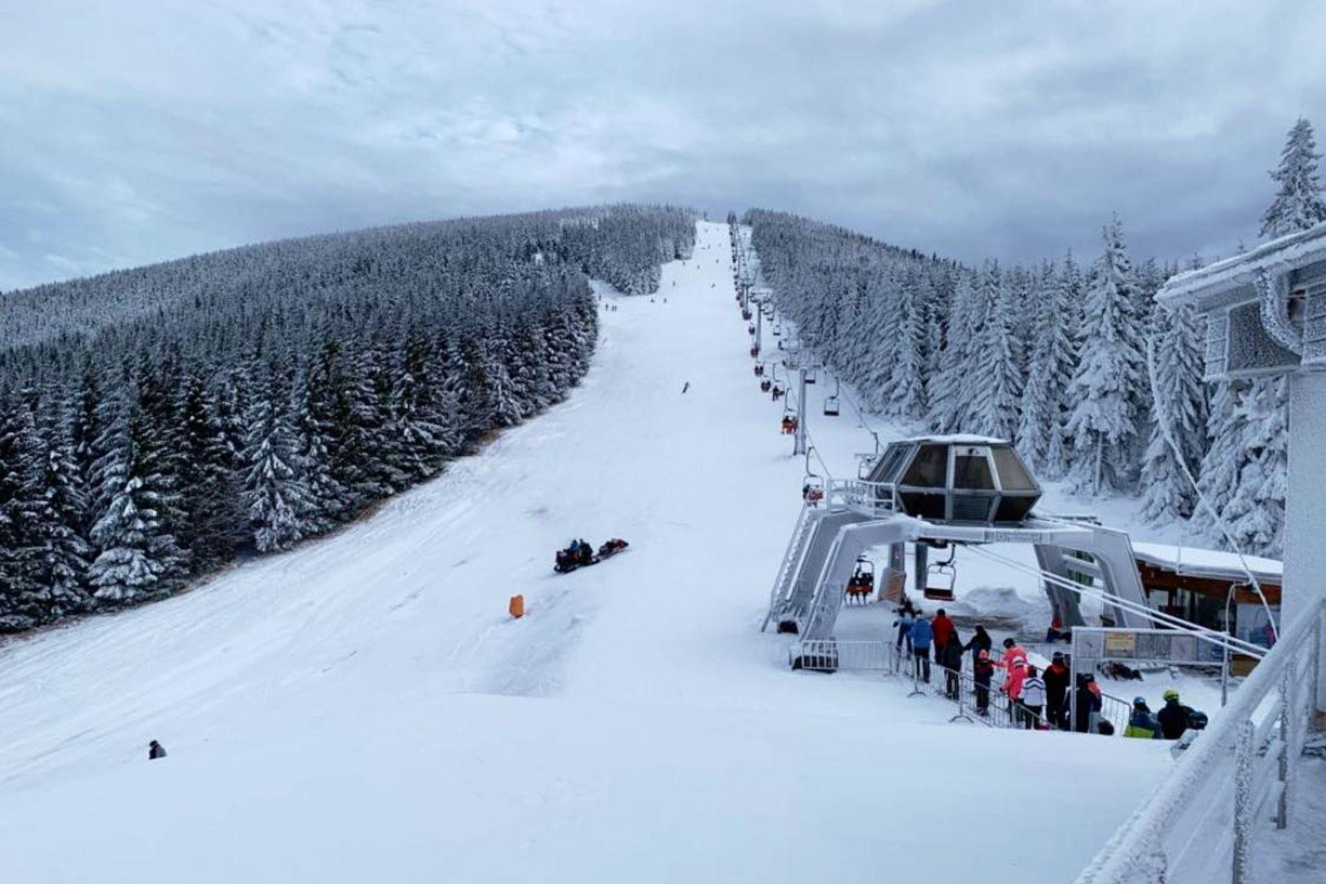 Najdłuższa trasa w Czechach w ośrodku Ramzova