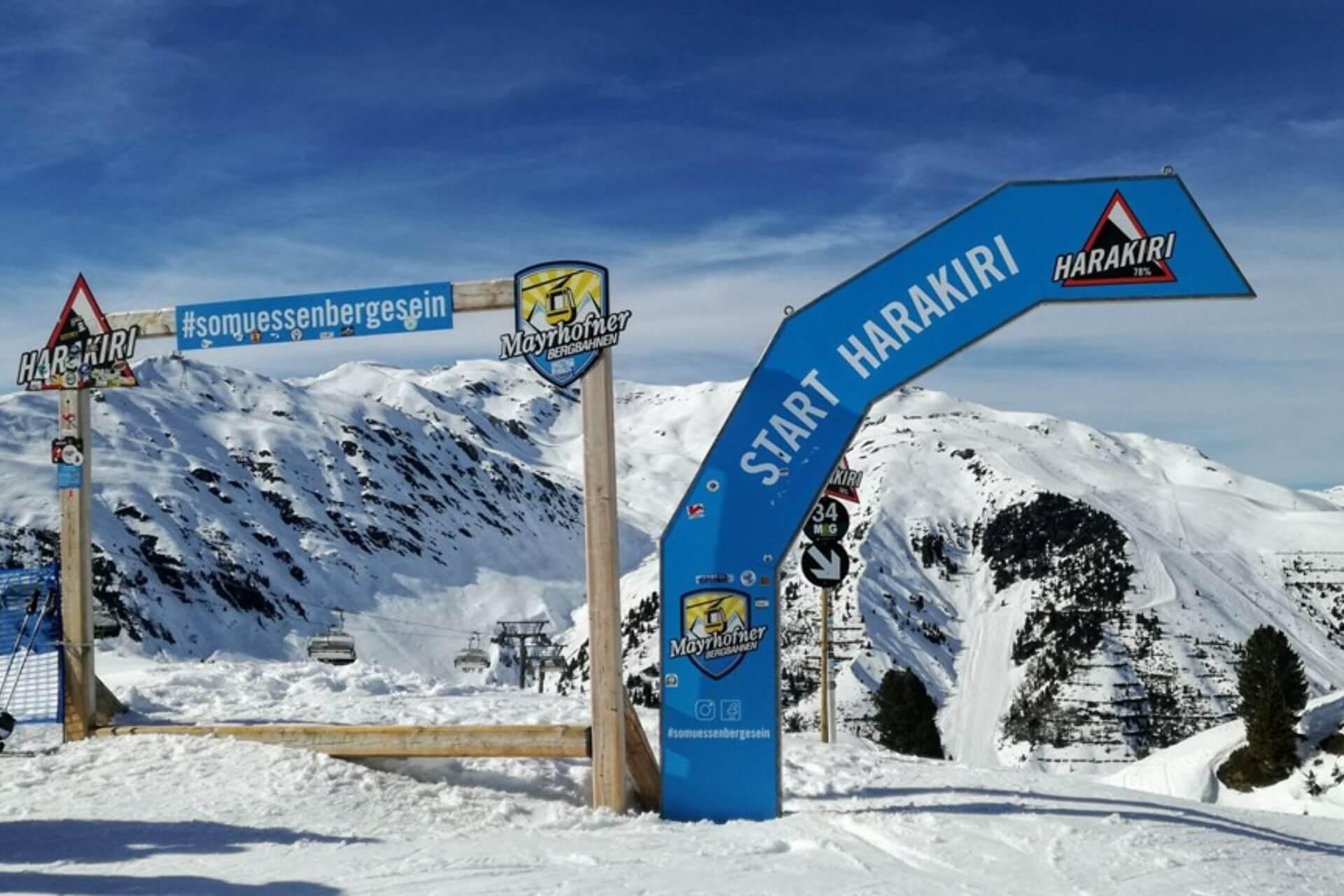 Najbardziej stroma trasa w Austrii Harakiri