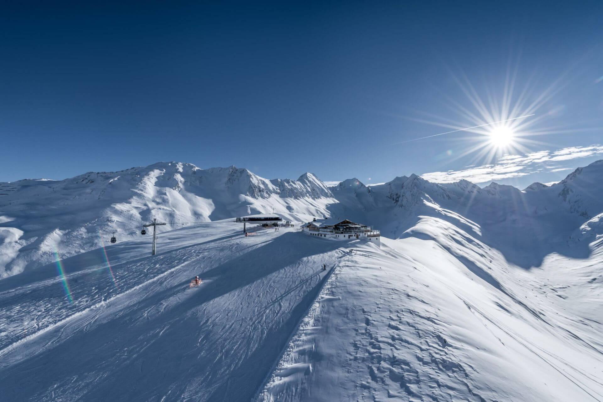 Najwyżej położone ośrodki w Alpach - Obergurgl