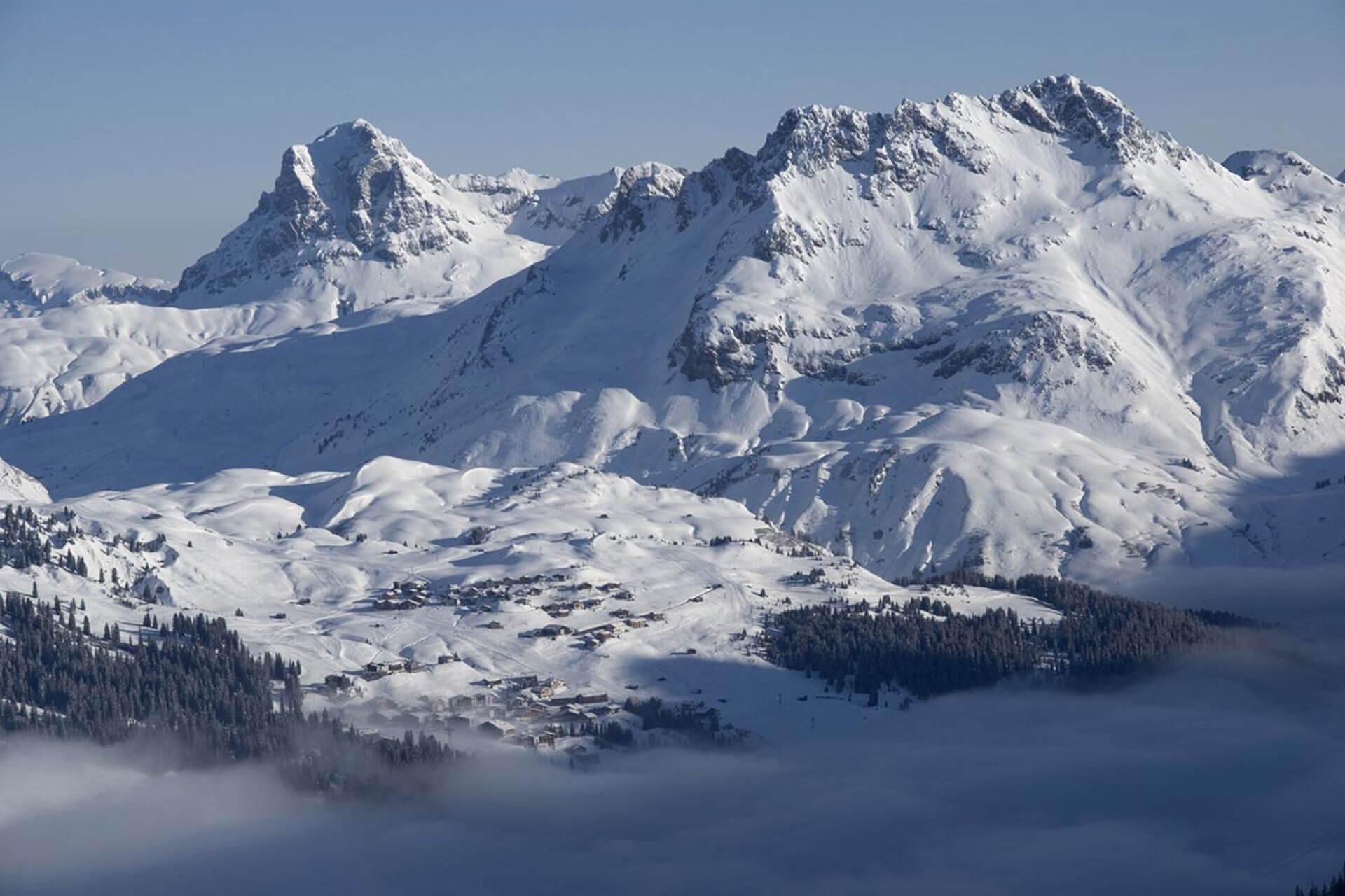 Najwyżej położone ośrodki w Alpach - Oberlech