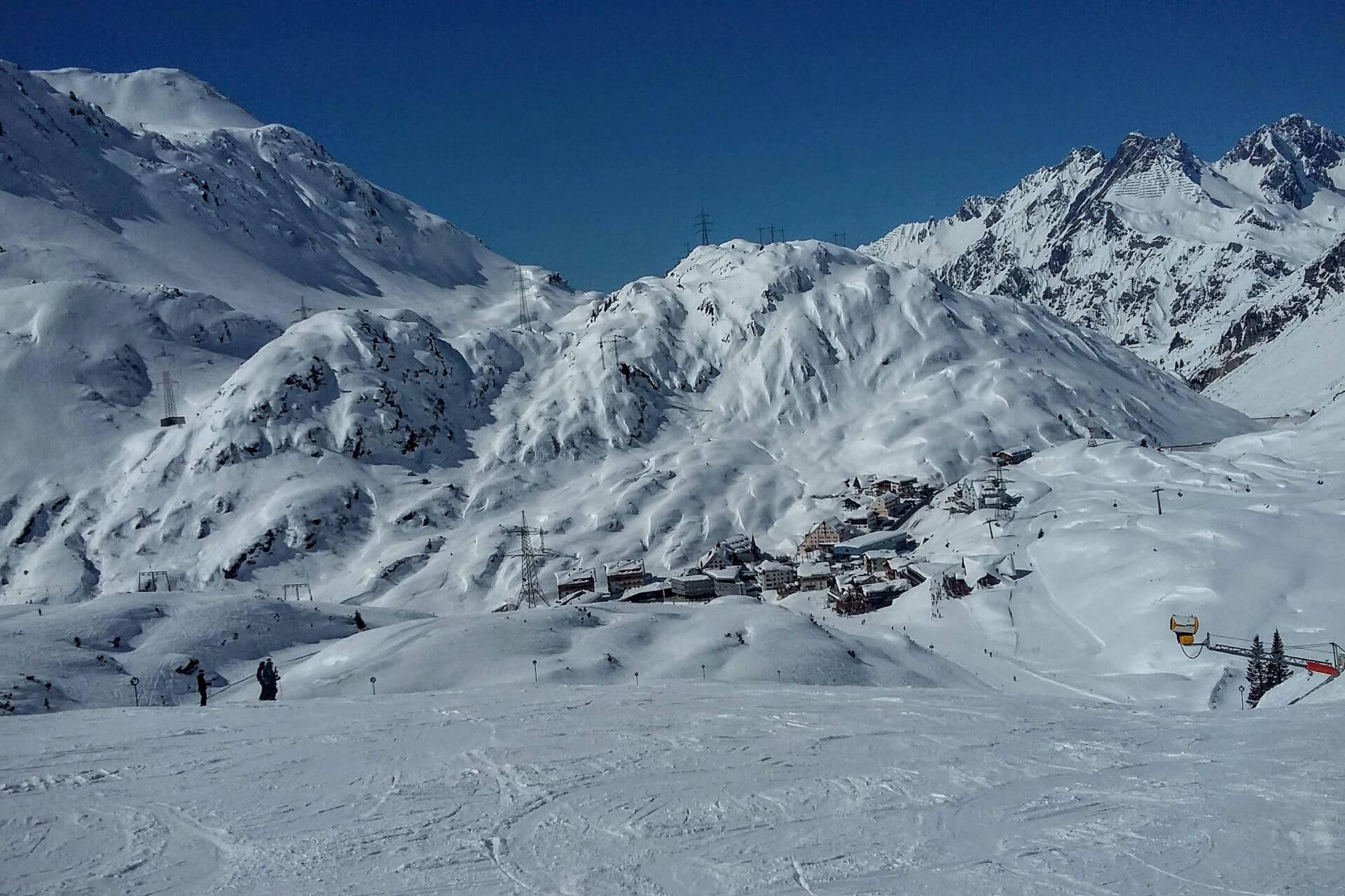 Najwyżej położone ośrodki w Alpach - Sankt Christoph